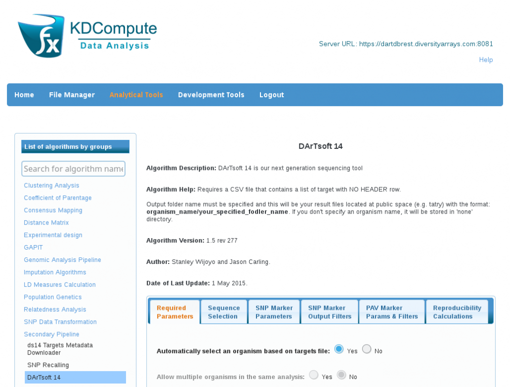 KDCompute - DArT Analytical Services